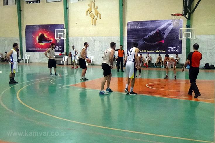 پیروزی تیم بسکتبال کاموَر مقابل تیم دانشگاه صنعتی اصفهان+عکس